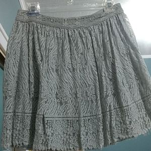 Mint green lace skirt